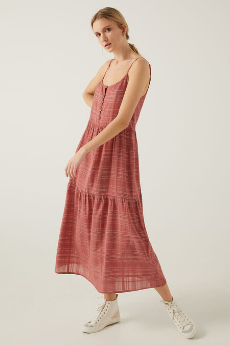 Vestido Largo Rosa Lurex