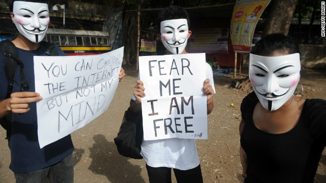 Anonymous contra la censura de internet