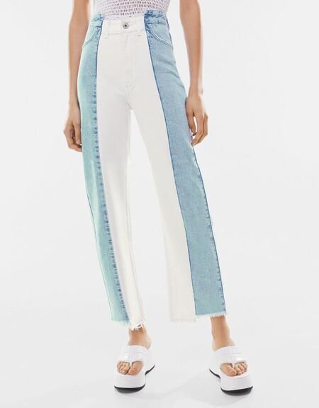 Jeans Straight Bicolor