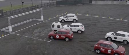 ¿Un partidito de fútbol? Pero de car football con unos cuantos SsangYong Tivoli