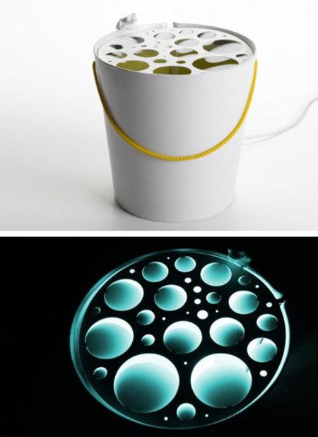 Un atrapainsectos que se convierte en lámpara de diseño