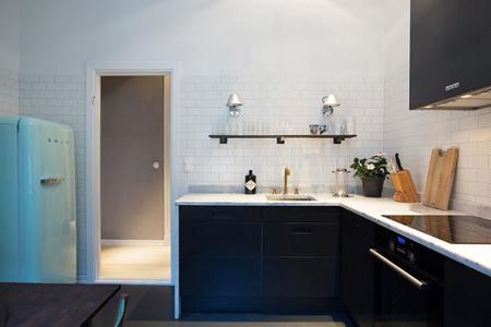 Mira lo que puedes llegar a hacer con un apartamento de 58 for Cocina 8 metros cuadrados