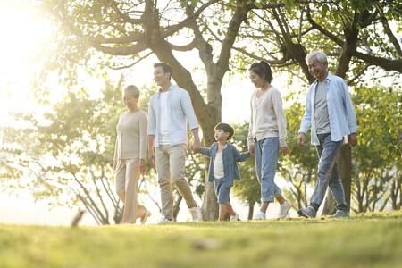Tres generaciones caminando