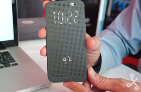 HTC Dot View, así es la funda inteligente de HTC para su nuevo One (M8)