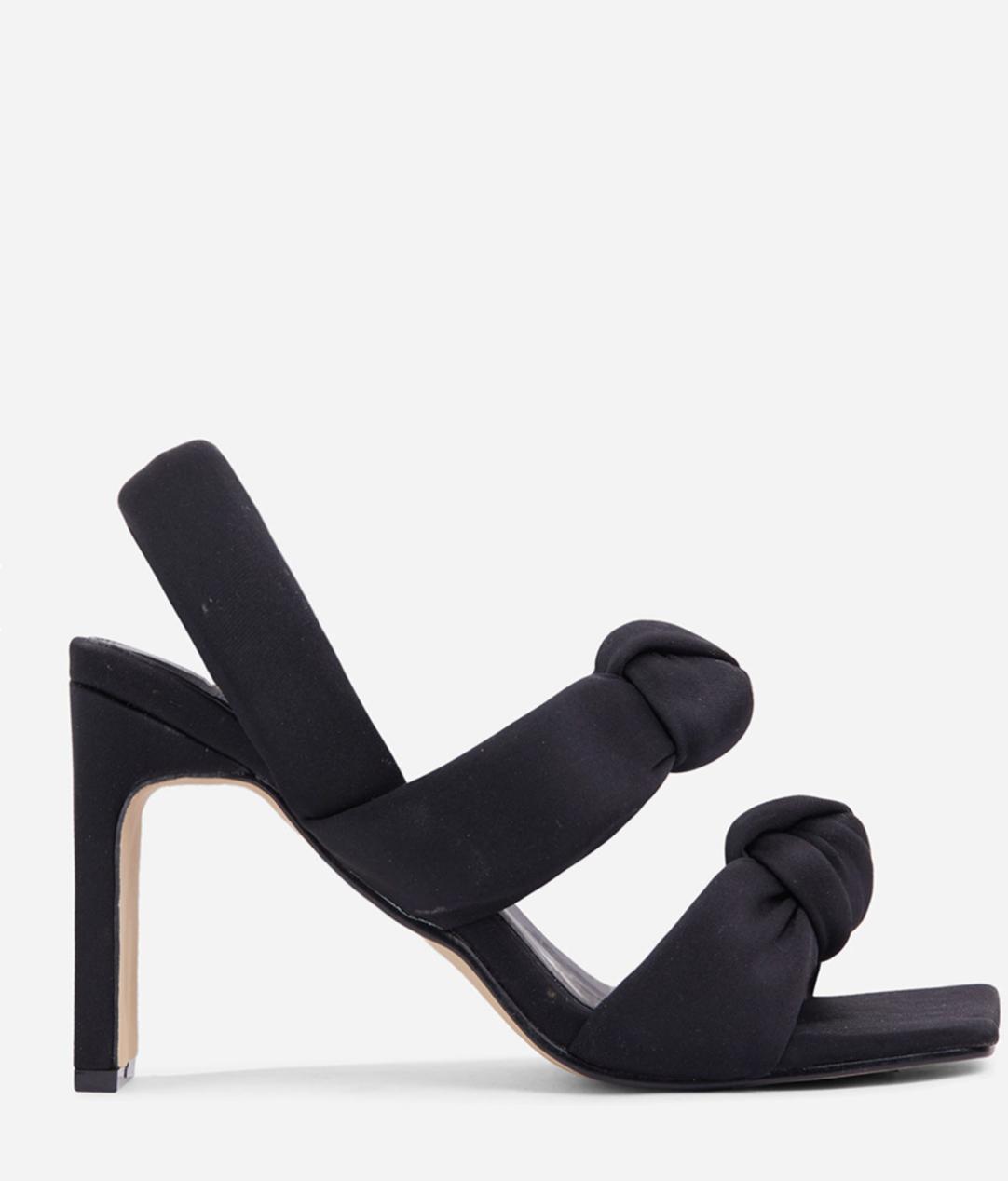 Sandalias negras de tacón con diseño acolchado Infatuated de Ego x Molly-Mae