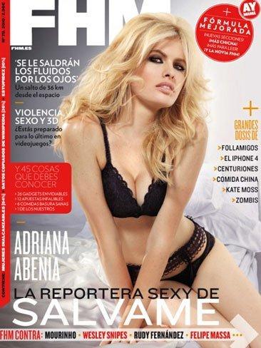 Adriana Abenia, la reportera buenorra de 'Sálvame', calienta la portada de FHM