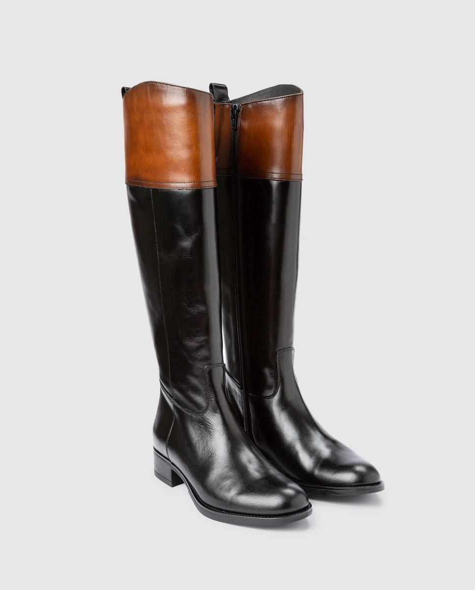 Botas altas de piel con estilo hípica de Luis Gonzalo