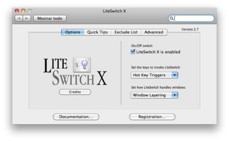 LiteSwitch X, modificando el sistema de gestión de ventanas de Mac OS X
