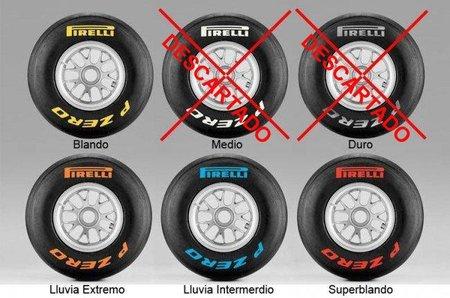 GP de Mónaco F1 2011: compuestos elegidos por Pirelli