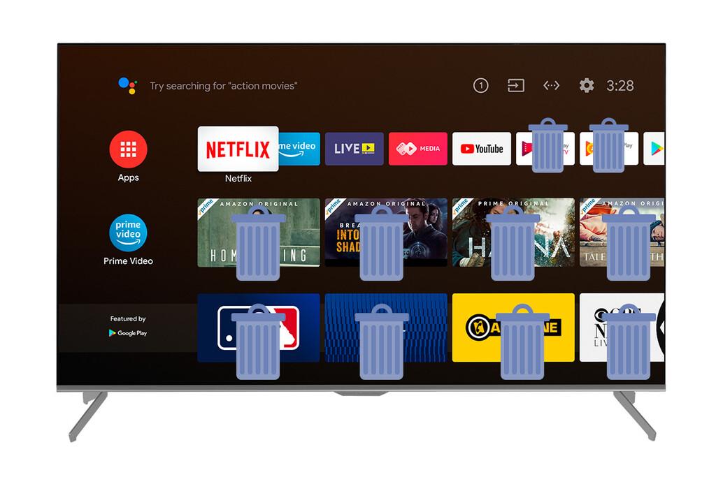 Cómo quitar aplicaciones preinstaladas de una tele con Android TV