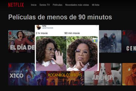 Netflix ha creado una categoría exclusiva para películas de menos de 90 minutos gracias a un meme viral