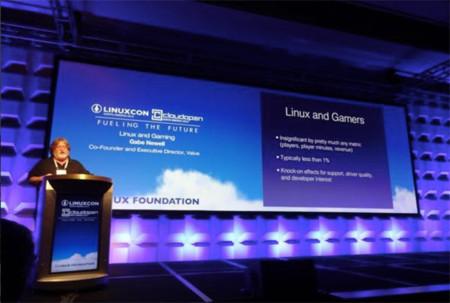 Gabe Newell cree que el futuro de los videojuegos está en Linux