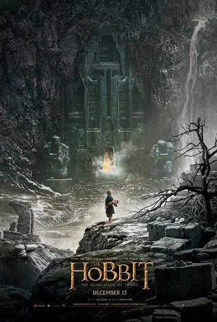 Imagen con el cartel de 'El hobbit: La desolación de Smaug'