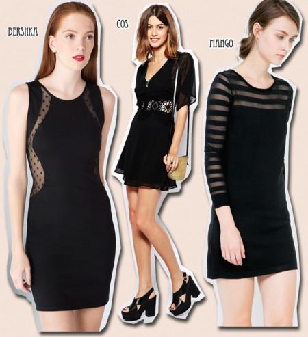 vestidos negros transparencias