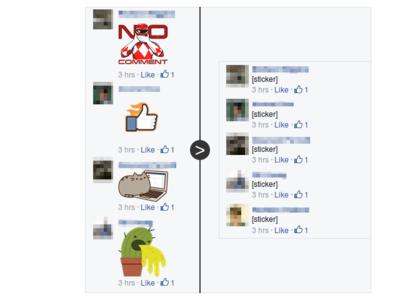 ¿No quieres ver los stickers de Facebook en sus comentarios? Unsticker.me te ayuda a conseguirlo