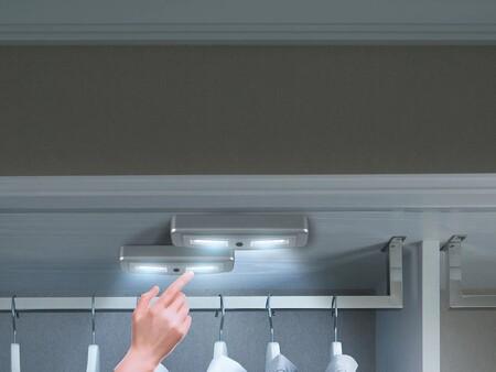 Las soluciones más económicas y funcionales para iluminar tus armarios sin instalación eléctrica las tienes en Lidl y en Amazon
