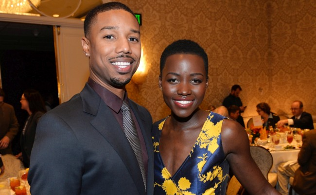 Michael B. Jordan y Lupita Nyongo'o