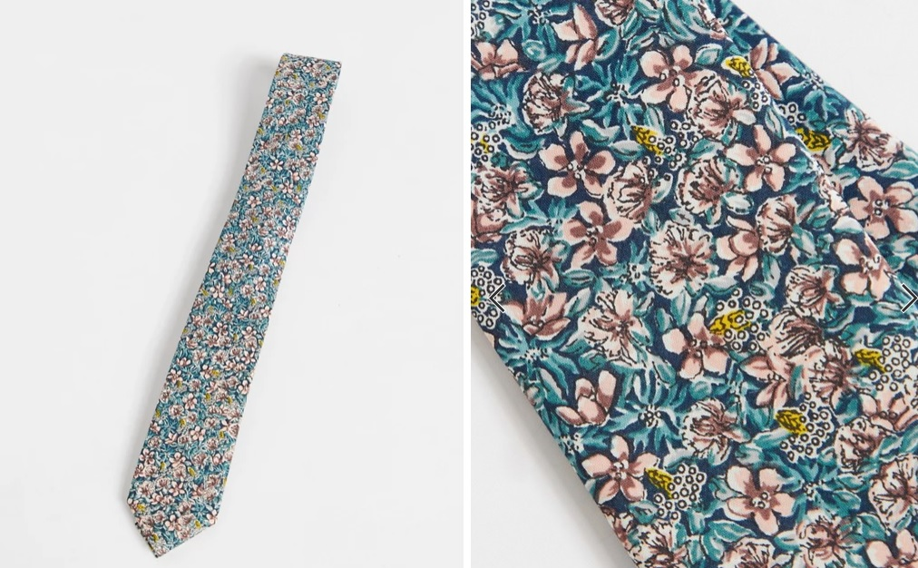 Corbata con estampado floral