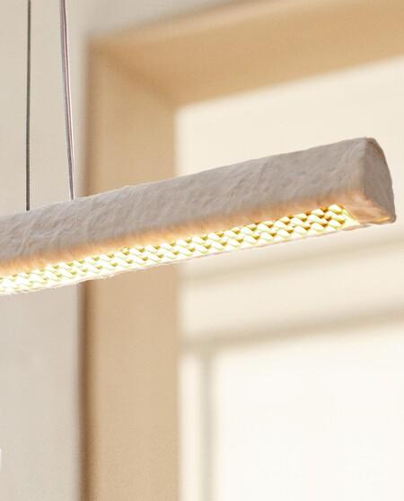detalle de lampara de papel