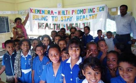 En las escuelas de las islas Fiji también se fomenta la alimentación saludable