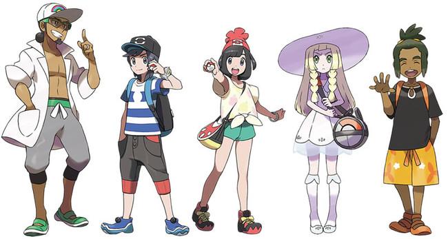 Pokemon Sol Pokemon Luna Personajes