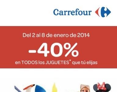 Carrefour ante la llegada de los Reyes Magos te hace un 40 % de descuento en juguetes