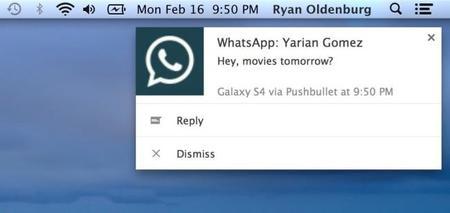 Pushbullet ahora permite contestar mensajes de varios mensajeros instantáneos