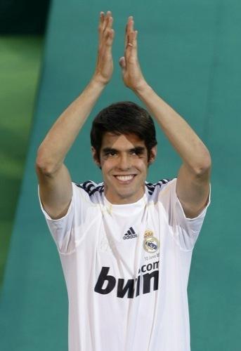Foto de Kaká en la presentación con el Real Madrid (6/9)