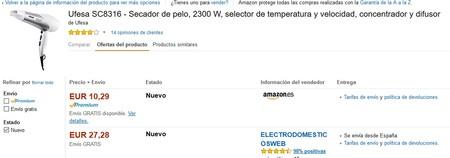 Secador De Pelo Ufesa Sc8316 Amazon
