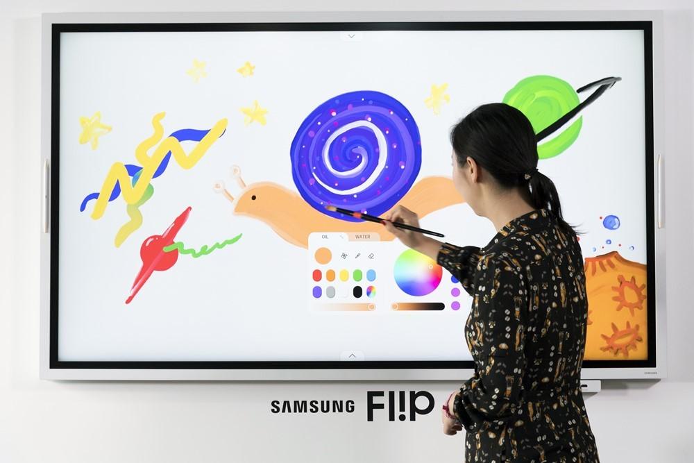 Samsung Flip 2019: una pizarra interactiva de 65 pulgadas con reconocimiento de escritura para animar las reuniones de trabajo