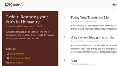 Readlists, agrupa páginas web y crea un ebook gratuito con ellas