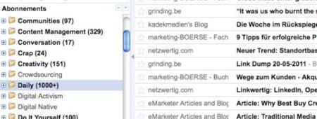 rss google reader feed noticias