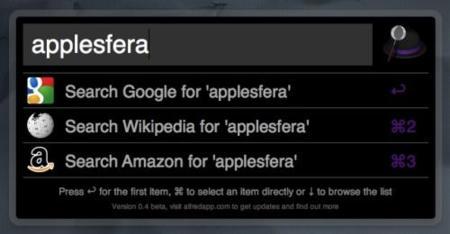 Alfred, prometedor lanzador de aplicaciones y archivos