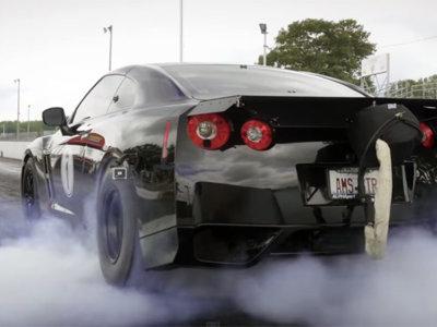 Este es el Nissan GT-R R35 más rápido del mundo, y lo puedes ver en movimiento