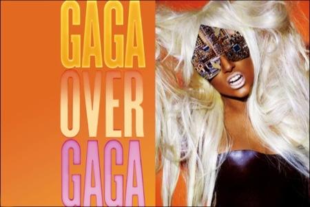 Lady Gaga en el editorial de V