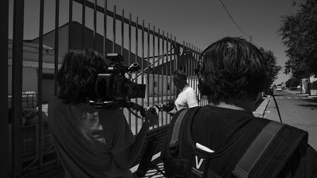 Making of del rodaje del documental La Línea de Sombra, Nicolás Combarro