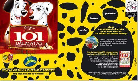 Promoción plátano de Canarias y Disney 2008