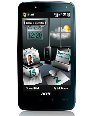 Acer F900 llega con miniaplicaciones e Internet Explorer 6