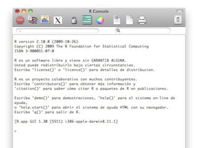 R, un programa de estadística y matemática para Mac