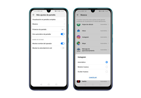 Huawei P Smart 2019 Ajustes Pantalla Notch