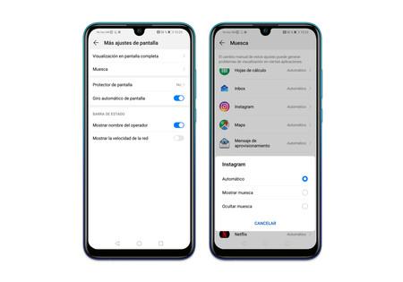 Huawei P Smart 2019 Ajustes Pantalla Notch
