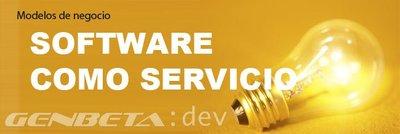 Modelos de negocio para software: Software como servicio