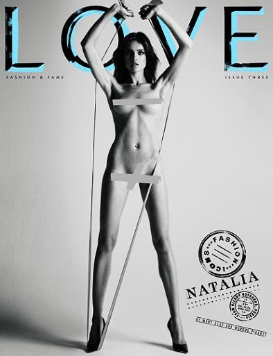 La revista Love desnuda a las top models