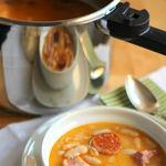 Fabada asturiana en 20 minutos. Receta en olla exprés
