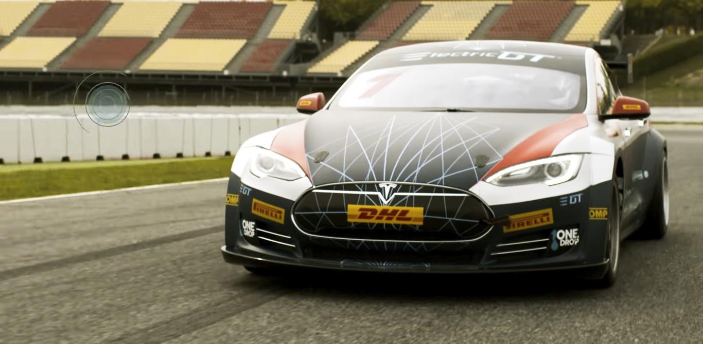 Así es el Tesla Model S preparado para la competición Electric GT: carreras sin emisiones
