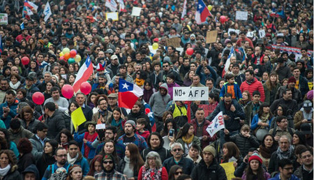 Chile Manifestacion Xinhua2