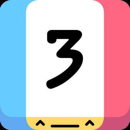 Threes App Icon