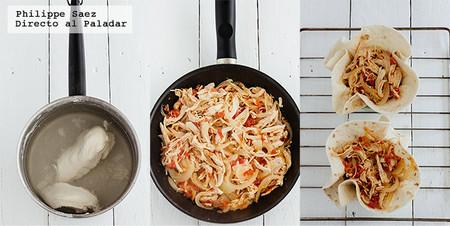 Tinga Pollo Cazuela Tortilla