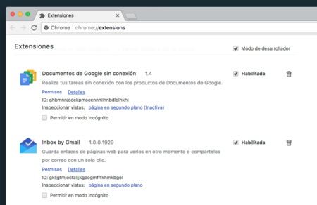Extensiones Chrome Macos