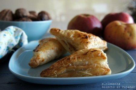 Empanadillas de manzana, nueces y gorgonzola. Receta